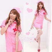 【即納】 セクシーなピンク看護士コスプレ ナースコスプレコスチュームハロウィンクリスマス
