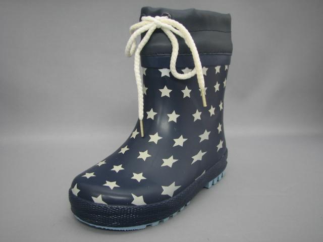 履き口から雨の浸入を防ぐ!星柄ドットミドルレインブーツ
