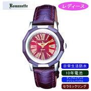 【ROMANETTE】ロマネッティ レディース腕時計RE-3521L-6 アナログ表示 10年電池 日常生活用防水