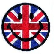 輸入ワッペン にこちゃん イギリス