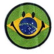 輸入ワッペン にこちゃん ブラジル