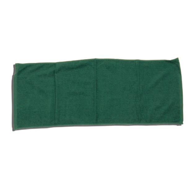 250匁フェイスタオル12枚セット:グリーン【34x85cm/美容室 美容院 エステ サロン 業務用タオル】