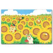 かわいいポストカード ひまわり畑