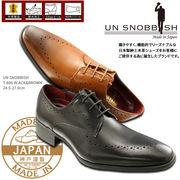 UN SNOBBISH 【MadeInJapan】本革紳士ビジネスシューズ T-606