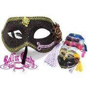 【club、パーティー、イベントに♪】Sexy♪グリッターラメベネチアンマスク 衣装・仮面