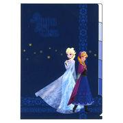 アナと雪の女王 5Pクリアファイル ネイビー