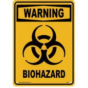 アメリカン雑貨 看板 プラスチックサインボード バイオハザード Biohazard(イエロー) CA-43