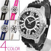 【いきなり超特価】チェーン&ラバーベルト 42mmフェイス腕時計【全4色・保証書付き】