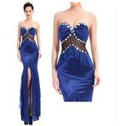大きなサイズ/大きいサイズ(XXL)ビジュ装飾&フリルデザイン ロングドレス