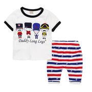 格安!!NEW★子供★幼児★近衛兵★ボーダー柄★ショートパンツ★Tシャツ+半ズボン