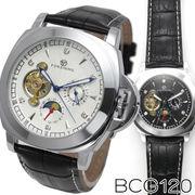 【全針稼動の本格仕様】★サン&ムーン自動巻き腕時計 BCG120【保証書付】