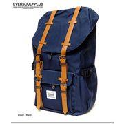 ★配色のカラーリングがオシャレ★高級感のあるベルト使いと豊富な収納で非常に使い勝手の良いデイバッグ★