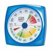 《日本製》【食中毒・風邪注意表示付き】生活管理温・湿度計