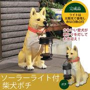 【直送可】ご帰宅を歓迎♪可愛いソーラーライト付柴犬 「ポチ」