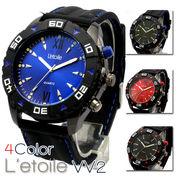 【L'etoile】迫力のビッグフェイス メンズ 腕時計 VV2
