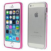 iPhoneSE / iPhone5s iPhone SE iPhone 5s 二色アルミメタルフレームバンパーケース シルバー ローズ