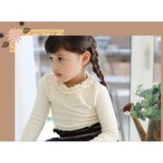 パールビーズ付き♪長袖Tシャツ 100cm~140cm全2色 綿70%ポリエステル30% 韓国子供服