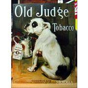 アメリカンブリキ看板 たばこを吸うブルドッグ