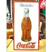 アメリカンブリキ看板 コカ・コーラ 1915年製ボトル