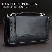 【EARTH REPORTER】カラーライン ミニセカンドバッグ ER-104 3色