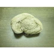 リネン糸(麻糸) Linen  ビスコース加工 生成り