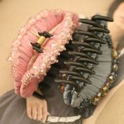 【廃版のため、最終処分】キラキラ 水晶 ビーズ 高級感 クリップ 髪飾り 全3色