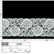【伸縮あり!ストレッチレース】★レース巾8.2cm 柔らかな印象の花柄レースです♪