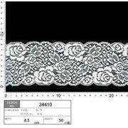 【伸縮あり!ストレッチレース】★レース巾8.5cm 丸い柔らかな印象のバラ柄レースです♪