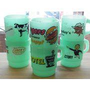 アンティークグラス風プラスティックマグ【Milky Ctacking Mug Cup】