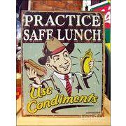 アメリカンブリキ看板 ホットドッグ Schonberg Safe Lunch