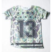 SPACE NINE クルーネック デザイン Tシャツ 番号