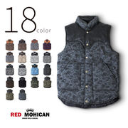 18color Red-Mohican 本革切替 中綿入りベスト