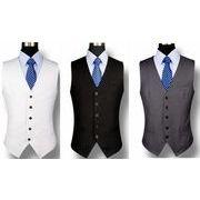 高品質スーツベスト  結婚式メンズ  ビジネス通勤オールシリーズ 紳士 チョッキ 二次会 リクルート 礼服