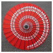 和傘-踊り傘 うず巻 赤 (装飾用)日傘