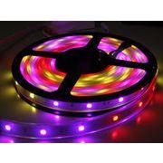 【ビニールチューブ型】LEDテープライトSMD5050型連結可150球5M フルカラー同時点灯可能