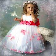 キッズドレス 子供ドレス 女の子 衣装 コスチューム イベント パーティー ピンク フラワー