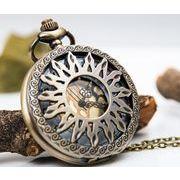 ■懐中時計■  透かし彫り 太陽模様