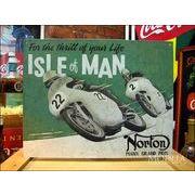アメリカンブリキ看板 Norton/ノートン 男の島