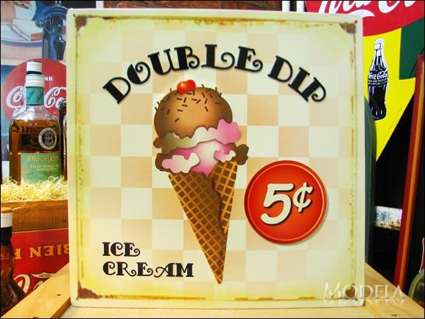 アメリカンブリキ看板 Ice Cream/アイスクリーム