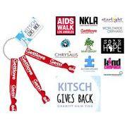 Kitsch(キッチュ)キーリング付きヘアアクセ3本セット/ヘアゴム/ブレスレット/Charity Hair Ties