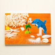 【即納】世界最小級のサプライズ☆nanoblockポストカード【イルカ】多目的 特価!