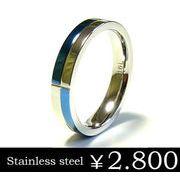 ステンレスリング/ブルー/ステンレスアクセサリー/指輪