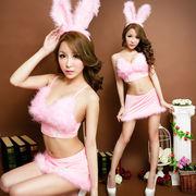 【即日出荷】ピンク色 スカート  バニーガール服  コスプレ衣装 ハロウィン【4121/4】
