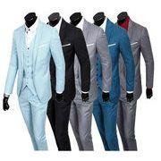 紳士服スーツセットアップ/メンズ1ボタン 無地 カジュアル ビジネス スリーピースパーティー結婚式