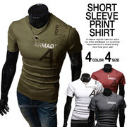 Tシャツ 半袖 クルーネック カットソー 4色 100856