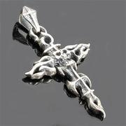 SV925 シルバー ペンダント 十字架 骸骨 スカル ドクロ【FOREST 天然石 パワーストーン】