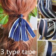 BLHW147493◆5000以上【送料無料】◆髪飾り材料★DIYヘアアクセサリー★デニムシリーズテープ