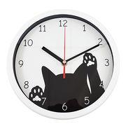 掛時計 サークル ネコ(ホワイト)