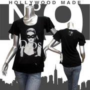 【HOLLYWOOD MADE】ハリウッドメイド★MISS PHANTOM MASK DT★No.9★フレアスリーブ★半袖Tシャツ ブラック
