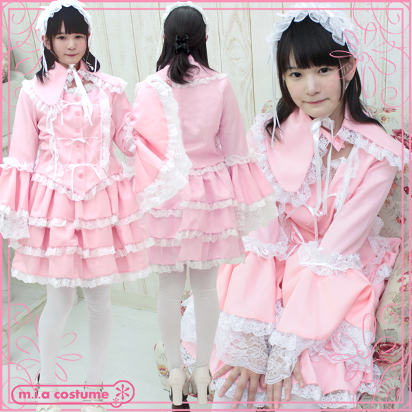 1160C★MB●送料無料● マリアドレスピンク 色:ピンク サイズ:M/BIG
